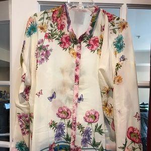 Johnny Was silk shirt !!!Firm